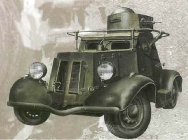 BA-20 WWII Russian armored car
